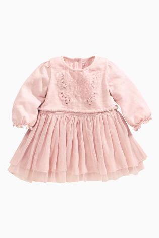 ピンク バタフライワンピース|NEXT,ベビー服,海外ブランド,