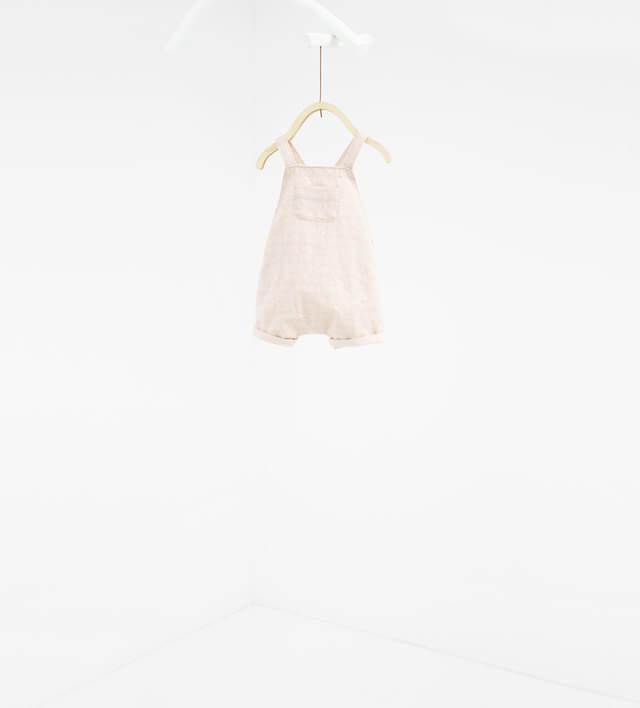 サスペンダーつきロンパース|ZARA MINI,ベビー服,海外ブランド,
