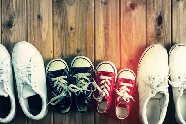 家族の靴,子ども,靴,収納
