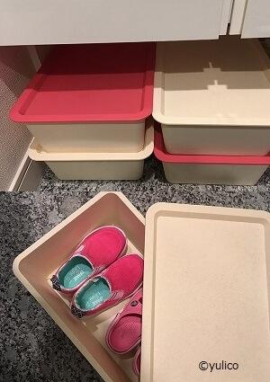 100均収納活用例(私物),子ども,靴,収納