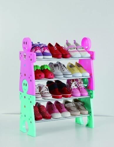 かさばらないシューズラック,子ども,靴,収納