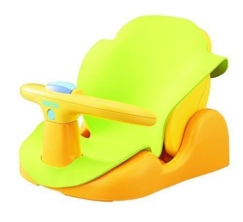 アップリカ バスチェア はじめてのお風呂から使えるバスチェア YE 91593 【パーツ取り外し可&やわらかマット付き】,赤ちゃん,お風呂グッズ,