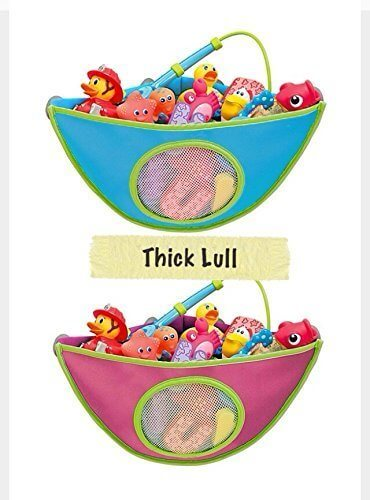 お風呂で楽しくおもちゃのお片づけ。かわいいお風呂おもちゃ収納コーナー ピンク、ブルー (ブルー),赤ちゃん,お風呂グッズ,