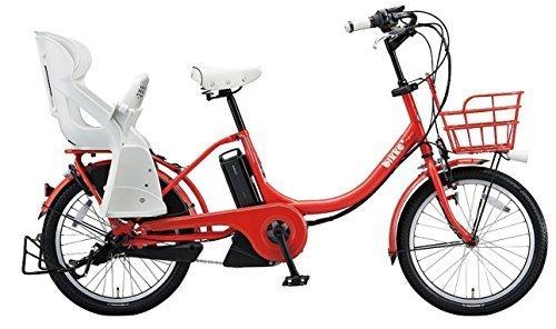 BRIDGESTONE(ブリヂストン) ビッケツーe リヤチャイルドシート装着モデル 幼児2人同上基準適合車(BAA適合) BK0C26 E.XBKレッド,電動,ママチャリ,