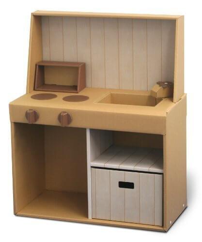 森井紙器 段ボール工作シリーズ おままごとダンボールキッチン,手作り,おままごと,