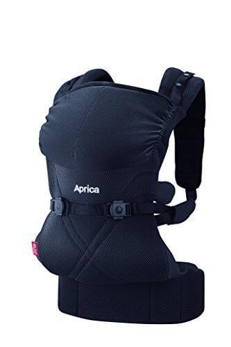 Aprica (アップリカ) 抱っこひも コラン CTS AB リュクス ブラック BK 4WAYタイプ 【疲れにくい腰ベルト & モッチリ肩パッド付】 39571,首すわり前,抱っこひも,おすすめ