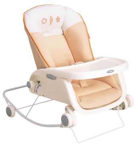 コンビ Combi ローラックチェア プルメア S ペールオレンジ (新生児~2歳頃対象) 多目的ロッキングローラック,