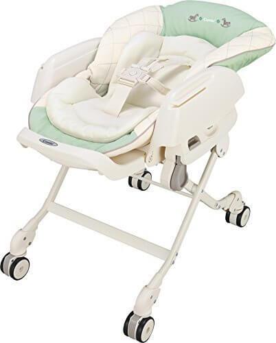 コンビ ベビーラック ネムリラ エッグショック CE ミルキーグリーン 新生児~4才頃対象 どこでも4輪キャスター搭載,
