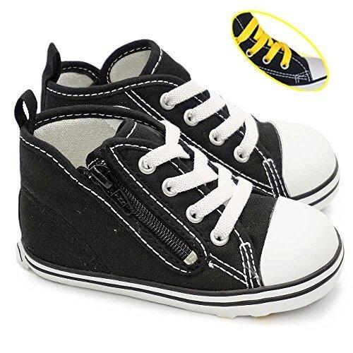 コンバース ベビーオールスター RZ ベビースニーカー 子供靴 ファスナー式 カップインソール 定番 CONVERSE BABY ALL STARR RZ 7C209(ブラック) 13.5cm,ハイカットスニーカー,キッズ,