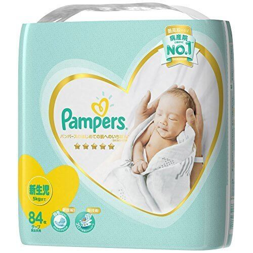 パンパース オムツ テープ はじめての肌へのいちばん 新生児(5kgまで) 84枚,紙おむつ,比較,
