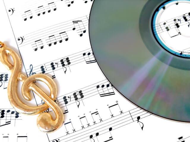 CDと楽譜,妊娠中,胎教,