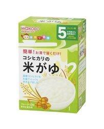 和光堂 手作り応援 コシヒカリの米がゆ 5g×10 1箱,簡単,離乳食,