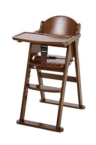 カトージ 木製ハイチェア cena ステップ切り替え (ブラウン) 22406,ベビーチェア,離乳食,