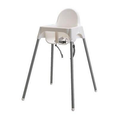 ★アンティロープ / ANTILOP ハイチェア 安全ベルト付 / ホワイト[イケア]IKEA(40157918),ベビーチェア,離乳食,