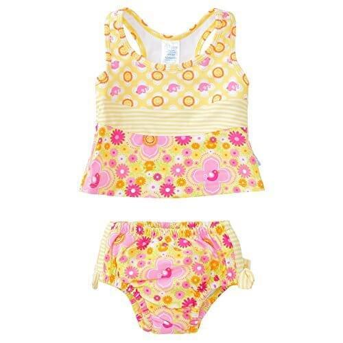 アイプレイ 水着 ベビー用 タンキニ ビキニ 女の子 UPF50+ (サイズ:3T、カラー:Yellow Floral) [並行輸入品],水遊びパンツ,プール,