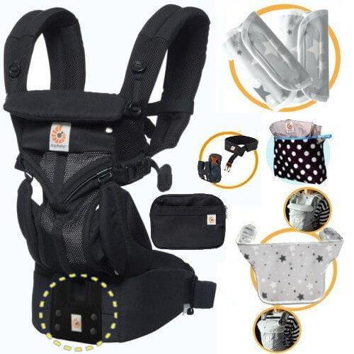 エルゴベビー OMNI360 オムニ360クールエア/ブラック 抱っこひも 正規代理店2年保証 ウエストベルト+収納ポーチ+よだれパッド+ママ&ベビー両用カバー,抱っこひも,比較,選び方