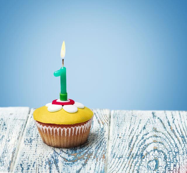 1歳キャンドルケーキ,1歳,誕生日,ケーキ