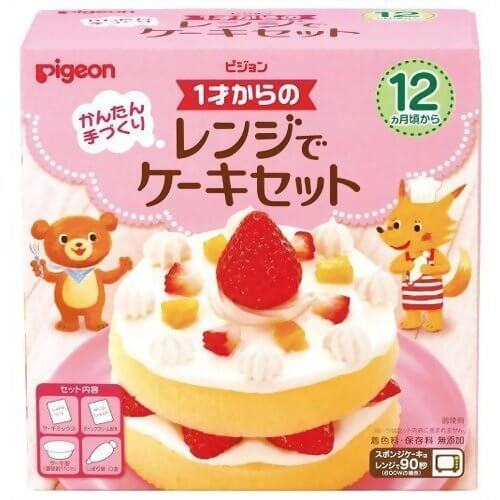 ピジョン 1才からのレンジでケーキセット,1歳,誕生日,ケーキ