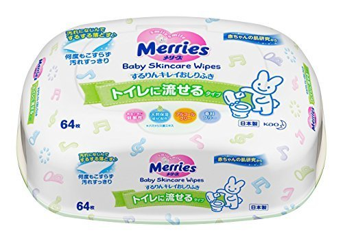 メリーズ トイレに流せる するりんキレイおしりふき 本体 64枚,おしりふき,おすすめ,