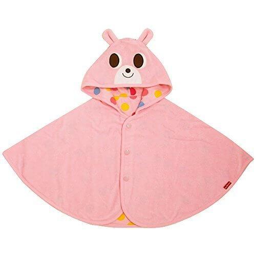ミキハウス ホットビスケッツ(MIKIHOUSE HOT BISCUITS) ポップでキュートなリバーシブルポンチョ 〈フリー (70cm-90cm)〉 フリー (70-90cm) ピンク,赤ちゃん,ポンチョ,