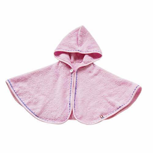 クレシェンド ケープ ピンク 着丈30cm 今治タオル 日本製 フード付ポンチョ ふわふわ素材,赤ちゃん,ポンチョ,