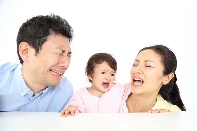 家族で号泣,子ども,イヤイヤ期,対処法