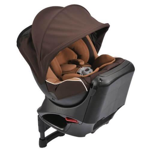 カーメイト エールベベ クルットNT2プラウド 新生児から4歳用チャイルドシート(サンシェード付360度回転型) シナモンブラウン,チャイルドシート,赤ちゃん,おすすめ