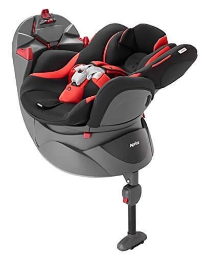 アップリカ 回転式チャイルドシート ディアターン プラス バウンシングブラックBK ベッド&イス型3ステップタイプ 【やわらかクッション搭載】(取付説明DVD付き) 93089,チャイルドシート,赤ちゃん,おすすめ
