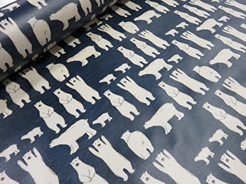 ラミネート生地 しろくまの親子 ネイビー   |生地|布地|ビニール|テーブルクロス|バッグ|水着入れ|ポーチ|ペンケース|ランドセルカバー|プールバッグ|エコバッグ|ボトルケース|防水|,ランドセルカバー,手作り,