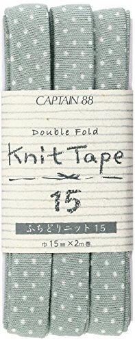 CAPTAIN88 Knit Tape ふちどりニット15 巾15mm×2m巻 CP176-24 セージグリーン,ランドセルカバー,手作り,