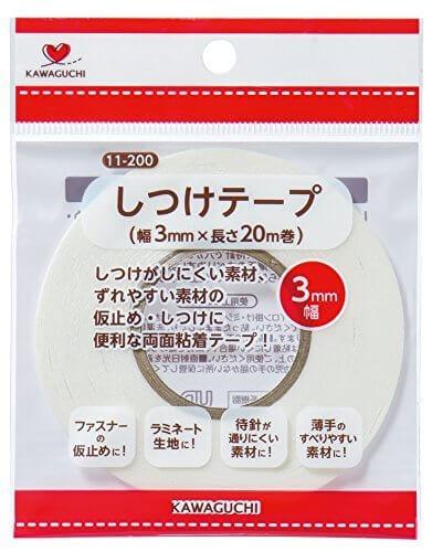 KAWAGUCHI しつけテープ 3mm幅×20m巻 11-200,ランドセルカバー,手作り,