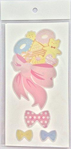 Reflector sticker 【リボン】 反射 リフレクター ステッカー シール,ランドセルカバー,手作り,
