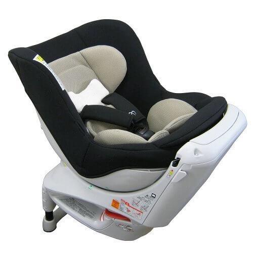 エールベベ 『日本製・安心トリプル保証付』回転型チャイルドシート 360ターンS2 【シートベルト取付】 新生児から4歳用(360度回転型) ブラック ALB80,エールベベ・360ターンS2,
