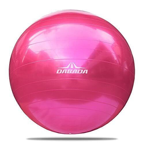 DABADA(ダバダ) バランスボール エクササイズボール ヨガボール 直径65cm 全5色 フットポンプ付き (ピンク),トランポリン,効果,おすすめ