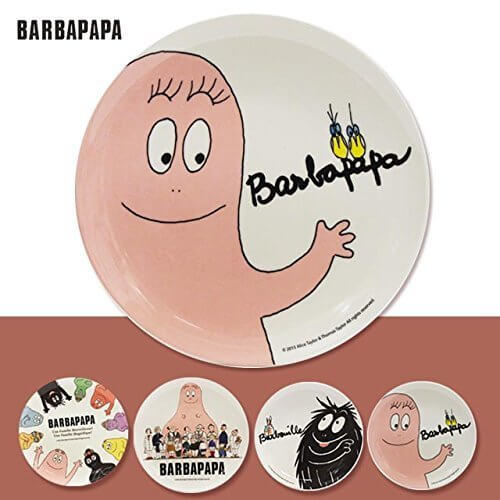 バーバパパ(BABAPAPA)メラミン プレート20.5cm【耐熱100℃】【キッズ・お子様皿】 バーバモジャ,バーバパパ,絵本,