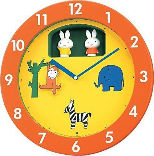 miffyミッフィー(リズム時計) 毎正時、メロディと共にミッフィーが回転する《からくり時計》 ミッフィーM748A 4MH748MA14,ミッフィー,グッズ,