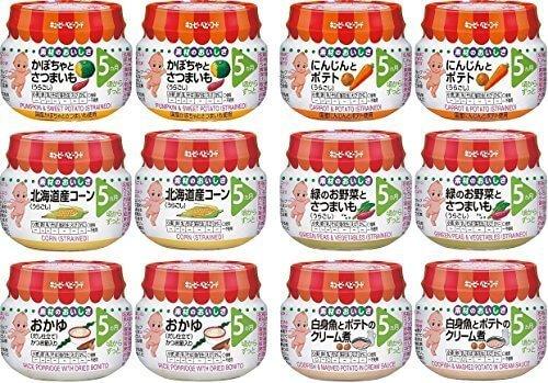 キユーピーベビーフード 瓶詰 バラエティセット (6種×2個) 5ヵ月頃から,離乳食,スケジュール,