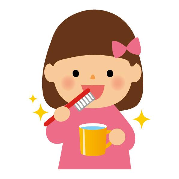 歯磨きをしている女の子,歯ブラシ,子供,