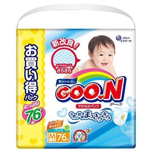 グーン(GOO.N) やわらかパンツ Mサイズ (7~12kg) 76枚,グーン やわらかフィットパンツ ,