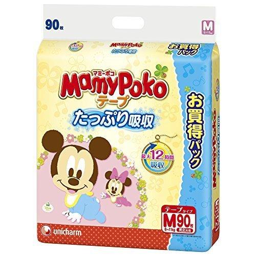 マミーポコ テープタイプ Mサイズ 90枚,紙おむつ,比較,