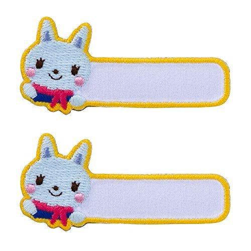 ミノダ funnyZOO 手書き用ネームワッペン ねこ K01I5706,アイロンワッペンの付け方,