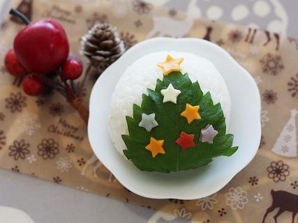 クリスマスツリーおにぎり,クリスマス,レシピ,