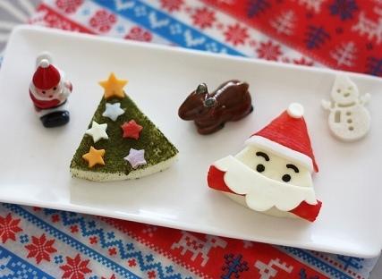 三角チーズのサンタとクリスマスツリー,クリスマス,レシピ,