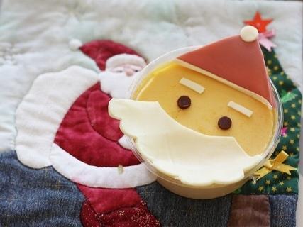 簡単サンタプリン,クリスマス,レシピ,