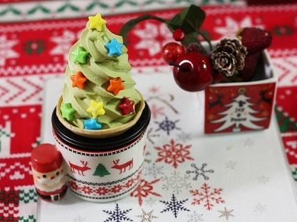 抹茶ソフトのツリー,クリスマス,スイーツ,