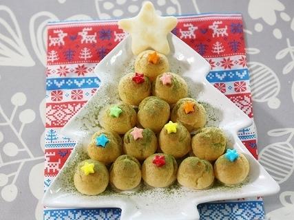 プチシューのクリスマスツリー,クリスマス,スイーツ,