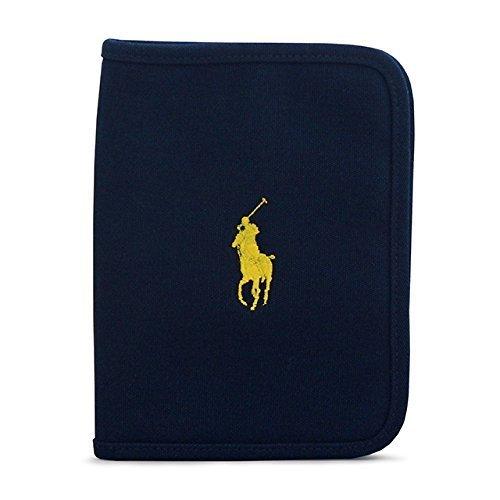 ラルフローレン(RALPH LAUREN) 母子手帳ケース キャンバス地 ロゴ刺繍 マルチケース ネイビー,ブランド,母子手帳ケース,