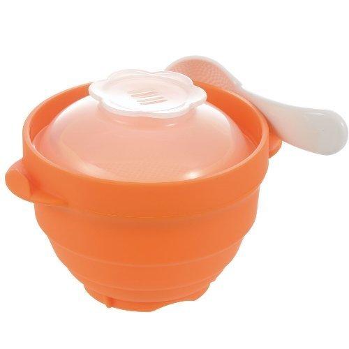 リッチェル 離乳食シリコーンスチーマー オレンジ,離乳食,後期,かぼちゃ
