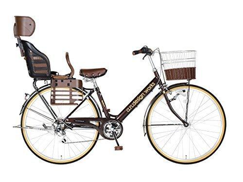 【a.n.design works】 V276HD with Kids ブラウン OGK RBC007DX3 ブラック・ブラウン,おしゃれ,おすすめ,子供乗せ自転車