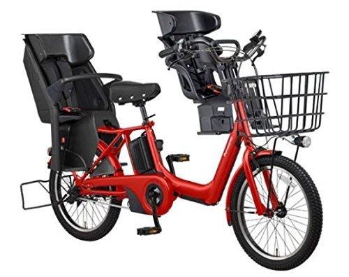 2018年モデル Panasonic(パナソニック) GYUTTO ANNYS(ギュット アニーズ) 3人乗り対応電動自転車 BE-ELA03A 純正フロントチャイルドシート付き (ロイヤルレッド(R5D)),おしゃれ,おすすめ,子供乗せ自転車